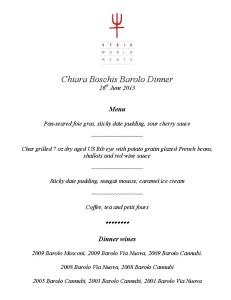 Barolo Steik Dinner